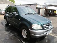 2000 MERCEDES ML 3.0 320 AUTO EXCELLENT HISTORY LOW 83K TOW BAR FULL LEATHER LOVELY DRIVE PX SWAPS