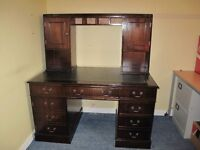 captains desk and desk top shelf unit