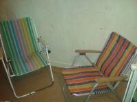 X2 retro deck chair's