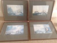 Set of 4 ship/ storm pictures