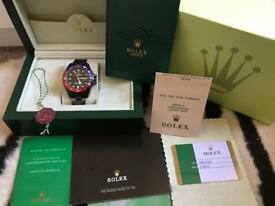 Rolex GMT Master II boxed with full accessories
