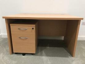 Large desk and pedestal