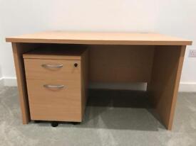 Large desk and pedestal