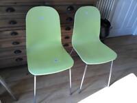 2 X John Lewis Fluent Dining Chairs