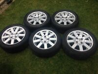 5 Ford Alloy Wheels 185/50/15 's
