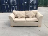 2 Seater Sofa Bed Cream Fabric (£50!!!)