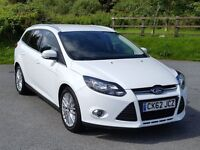 2012 62 Ford FOCUS Zetec ESTATE 1.6TDCi, Navigator, Satnav, Parking Aid, New MOT & Service, £20 Tax