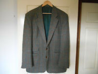Marks and Spencer Men's Check Wool Jacket - Size Medium (44in chest)