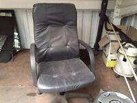 Black high back office chair
