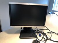 "HP wide 19"" LCD monitor black/silver"