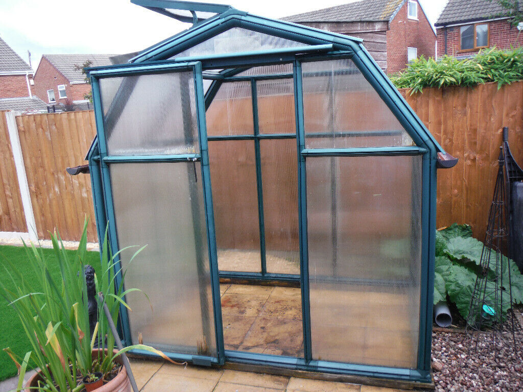 6ft 6in x 4ft Rion EcoGrow Walk In Green Polycarbonate Greenhouse | in St  Helens, Merseyside | Gumtree