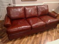 Leather couch and matching chair