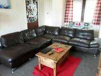 Large chunky corner sofa