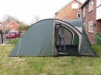 large 4 man tent with ground sheet and seperate bedroom comartments