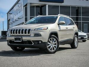 2014 Jeep Cherokee Limited| 4x4| Heated Leather Interior| Rear V