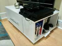 White coffee table / TV stand unit