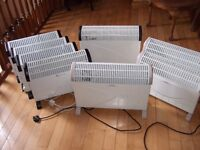 Portable electric heaters x 8
