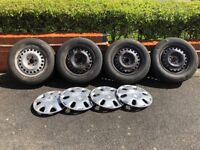Steel wheel X4 with tyres & trims