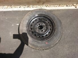 SPARE WHEEL 13'' WITH GOOD TYRES