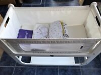SnuzPod Eco-White with Mattress + Mattress Protector + Extras - Nearly New