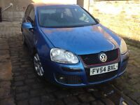 2005 vw golf 2.0 gt tdi 140 6 speed blue gti front good runner bargain priced to sell full Elec pack