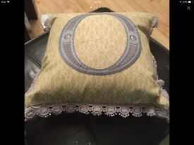Cushion 30/30cm brand new one side is velvet is £15 with price tag from marks and Spencer's