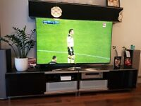 Tv stand black gloss fronts