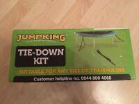 Trampoline tie down kit