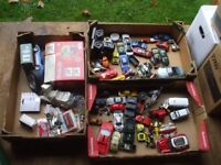 3 BOXES OF TOY CARS.