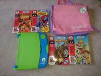 Leap Pad learning system + 5 books + cartridges