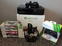 Xbox 360 250GB console with 2 controllers, headset & 12 top games