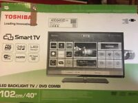 Toshiba 40inch SmartTV HD LED DVD built in