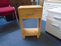 small pine look bedside cabinet