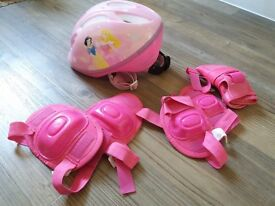 Cycle/skate helmet with knee elbow and wrist pads