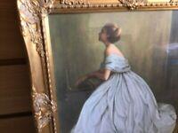 Ornate framed picture