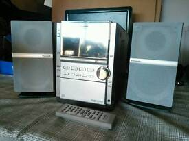Panasonic stereo with 5CD changer, cassette and radio