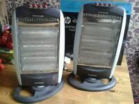 X 2 heaters