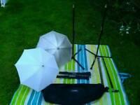 Lighting Kit, 2x Stands 2xUmbrellas, 2x reflector holder, carry case