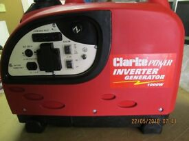 BRAND NEW CLARKE IG1000 INVERTER SUITCASE PORTABLE GENERATOR