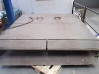 Steel Container unloading ramps 228 width x 207 length 2 ton