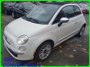 2013 Fiat 500 CONVERTIBLE LOUNGE 2DR CONV LOUNGE CUIR MAGS