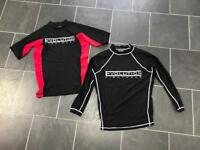 2 x evolution fightwear tops - size small