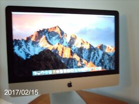 """21.5"""" iMac desktop computer; Intel Core i7 3.1GHz; and Brother all in one printer."""