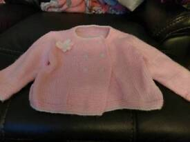 Pink cardigan 12-18 months knitted girls baby