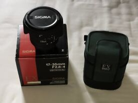 Sigma 17-35mm F2.8 - 4 full frame lens Nikon fit