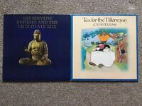 "CAT STEVENS x 2. 12"" VINYL LPs. TEA FOR THE TILLERMAN & BUDDAH AND THE CHOCOLATE BOX"