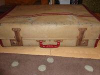 Vintage Suitcase Shabby Chic Decorative Upcycle.
