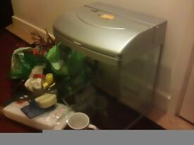 Fish tank, Beta, with filter, filters, light, gravel, aquarium safe, net, brush/tube, buyer collects