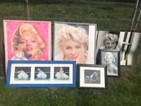 Marilyn Monroe Framed Pictures / Posters Job Lot