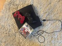 Playstation 3 with 2 controllers and FIFA10